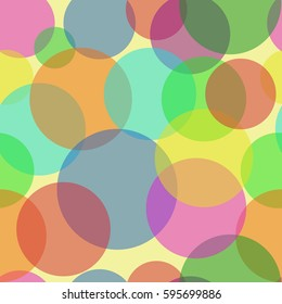 Sweet Bubbles on the light yellow background. Seamless Texture for background image on websites, e-mails, etc.