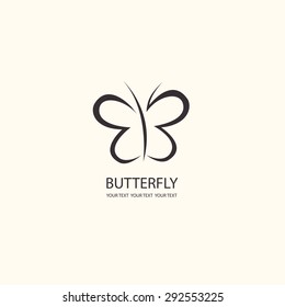 Sweet Butterfly. Vector icons pattern. flat design set
