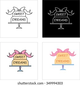Sweet cake bakery badge label and logo