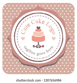 sweet cake image ideal for logo or label for pastry shops