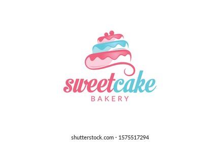 Sweet Cake Logo Cupcake Logo Icon
