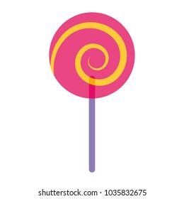 sweet candy cane swirl round
