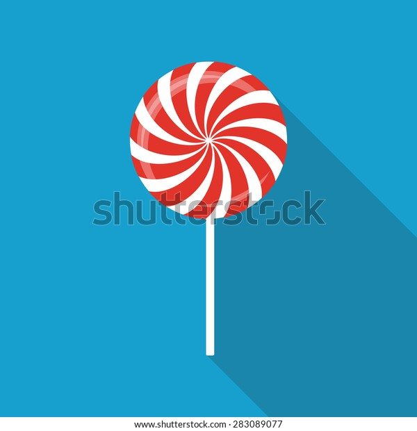 Sweet Candy Flat Icon with Long Shadow, Vector Illustration Eps10