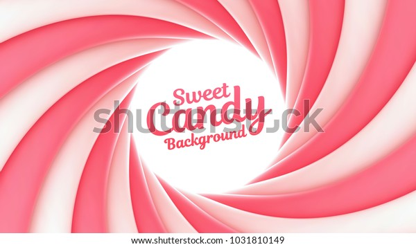 Sweet candy swirl vector background