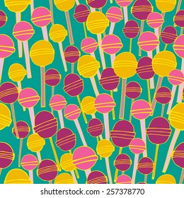 Sweet candy vector seamless pattern.