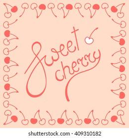 Sweet cherry lettering logo
