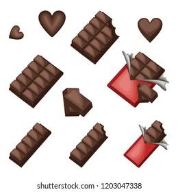 Sweet Chocolate Bar Block Piece Love Shape Wrap
