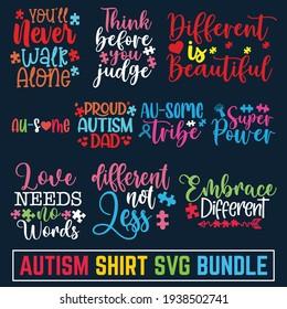 Sweet cute inspiration autism typography. autism t-shirt design, Autism Awareness Day T-Shirt Design Template, Illustration, svg, Vector graphics, Autism Shirt, Calligraphy
