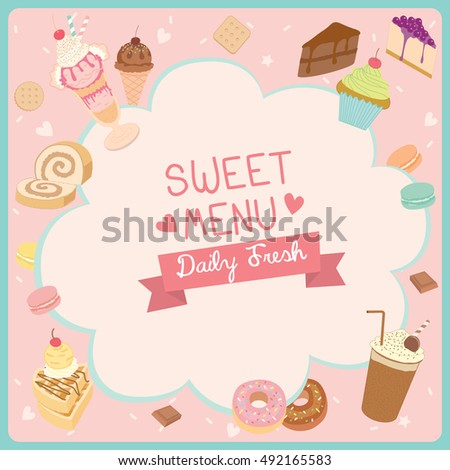 sweet dessert menu banner template restaurant stock vector royalty