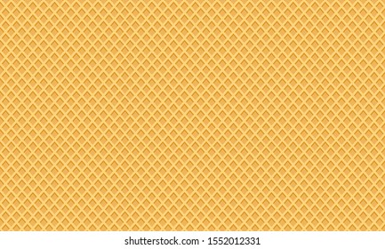 Sweet dessert wafer background, space for your text. Vector illustration