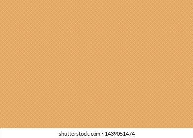 Sweet dessert waffle texture seamless pattern. Vector background.
