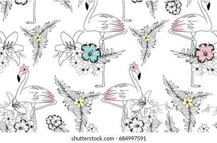 sweet flamingo illustration graphic