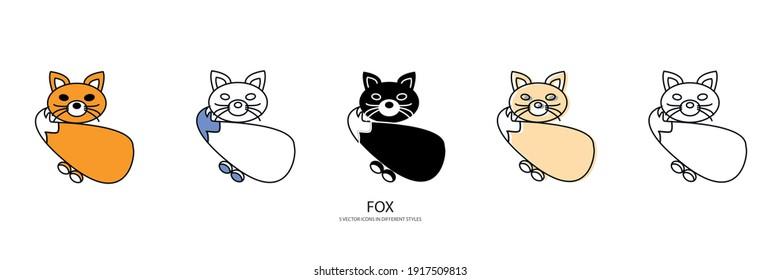 sweet fox vector type icon