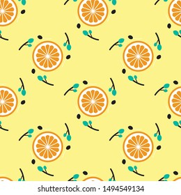 Sweet and fresh fruits Seamless Pattern Illustration. Can use for print, template, fabric, presentation, textile, banner, poster, wallpaper, poster