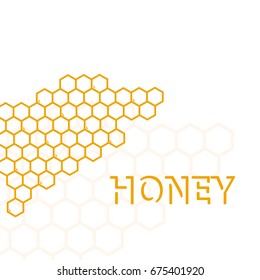 Sweet geometric pattern with honeycomb. Flat background vector illustration.