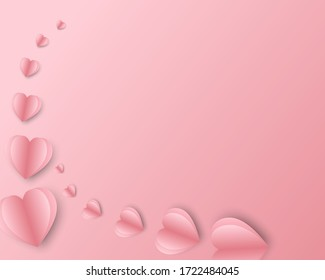 Sweet hart with pink heart background