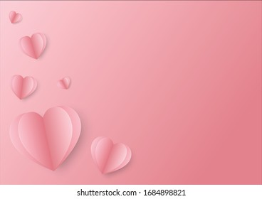 Sweet Heart and Pink Heart on white background