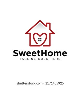 sweet home house logo icon vector template