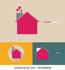 sweet home icon vector.