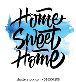 Sweet Home. Vector illustration. Calligraphy. Lettering.