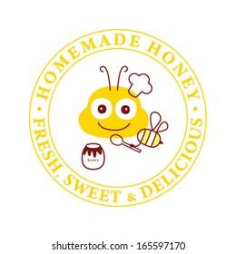 sweet honey bee symbol