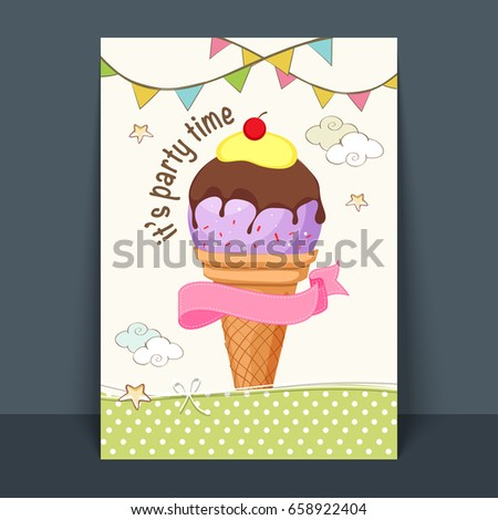 sweet ice cream flyer template poster stock vector royalty free