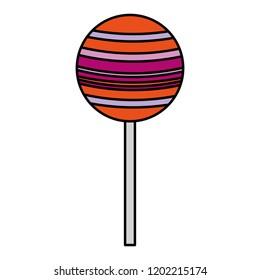 sweet lollipop isolated icon
