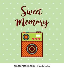sweet memory camera greeting card