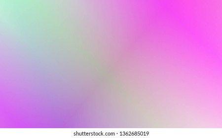 Sweet Multicolor Blurred Background. For Abstract Modern Screen Design For Mobile App. Vector Illustration
