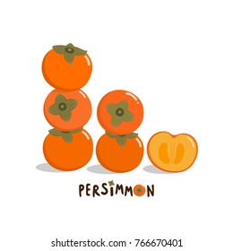 Sweet persimmon vector