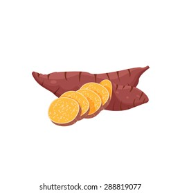 Sweet potato design, illustration, vector