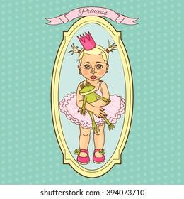 Sweet princess hand drawn illustration