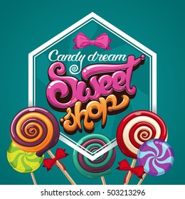 sweet shop candy poster