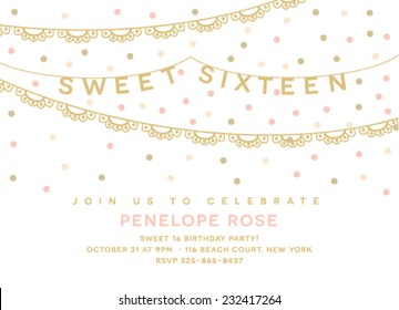 Sweet Sixteen Party Template
