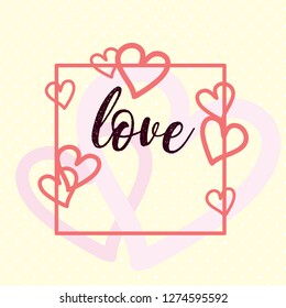 Sweet valentine's day card design with hearts