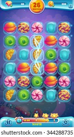 Sweet world mobile game user interface GUI playing field