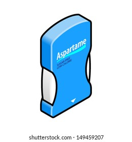 Sweetener tablet dispenser of aspartame.