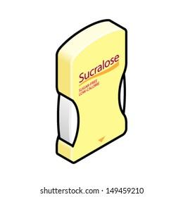 Sweetener tablet dispenser of sucralose.