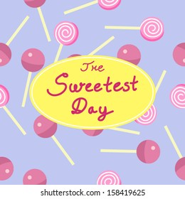 Sweetest day. seamless pattern. Vector