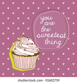 """Sweetest thing"" valentine's day card"