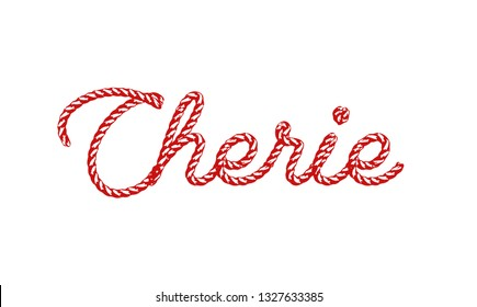"""chérie"" (sweetheart in French)"
