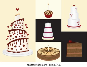 Sweets and candies - vector illustration