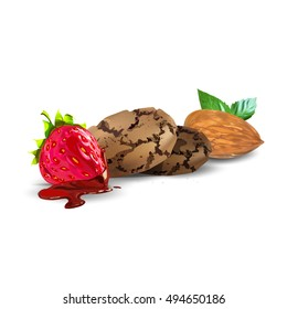 sweets and desserts, fruit vector