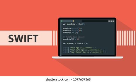 Swift Coding Images, Stock Photos & Vectors   Shutterstock