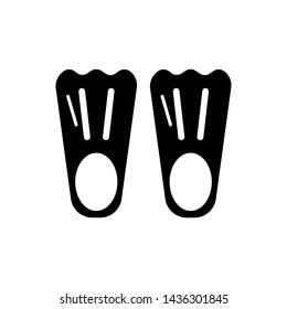 Swim flippers icon. New trendy art swim flipper vector symbol.