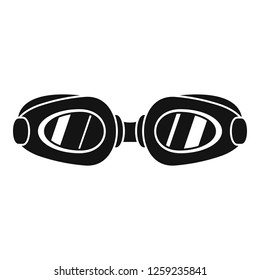 Swim glasses icon. Simple illustration of swim glasses vector icon for web design isolated on white background
