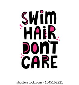 Pool Hair dont care water slide decal ready to use
