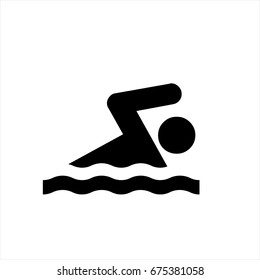 Swim icon in trendy flat style isolated on background. Swim icon page symbol for your web site design Swim icon logo, app, UI. Swim icon Vector illustration, EPS10.