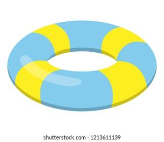 Swim ring illustration.