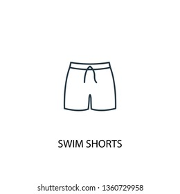 Swim Shorts concept line icon. Simple element illustration. Swim Shorts concept outline symbol design. Can be used for web and mobile UI/UX
